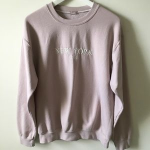 Brandy Melville Pink New York Erica Sweatshirt